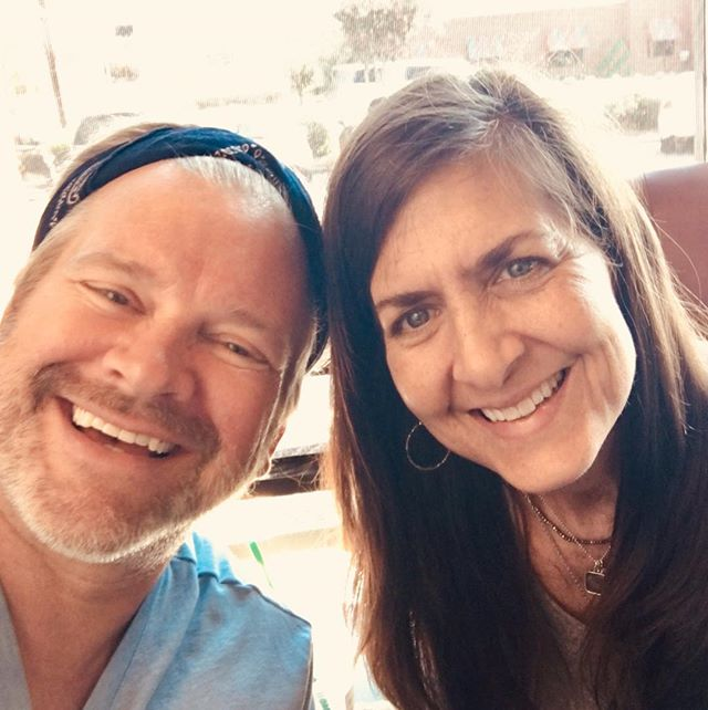 """Me and Amy Carney—she's offering private art classes now!! Looooooooove It!!!! Love it when artists """"make it happen""""!"""