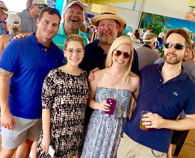 "Having fun with ""The Peeps"" at the Wyndham on Sunday.  @katie_atwater_williams @jennifer0410 #wyndham #wyndhamgolf #wyndhamgolftournament #sedgefieldcountryclub #sedgefield"