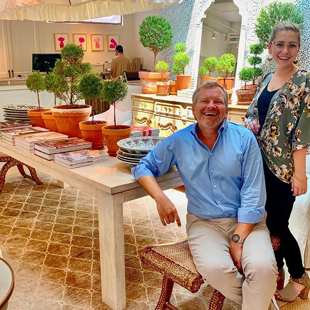 """Getting Inspired!! Me and Miss Williams in the gorgeous home furnishings boutique, """"Bungalow"""", in Atlanta recently.  Love it!  #textiledesign #inspirationtrip #atl @deleotextiles #carousel"""