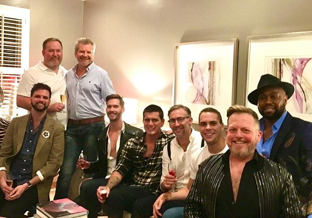 House Of Delicious on Saturday night before GFW Fashion Show.  Me and the boys having a champagne toast pre-party moment. @pathawkmusic @gtsell @logan_inman #GFW #fashionshow #preparty #gsofashionweek #delicious #champagne #pregame #denimdecadence #denimfashion #denim2019