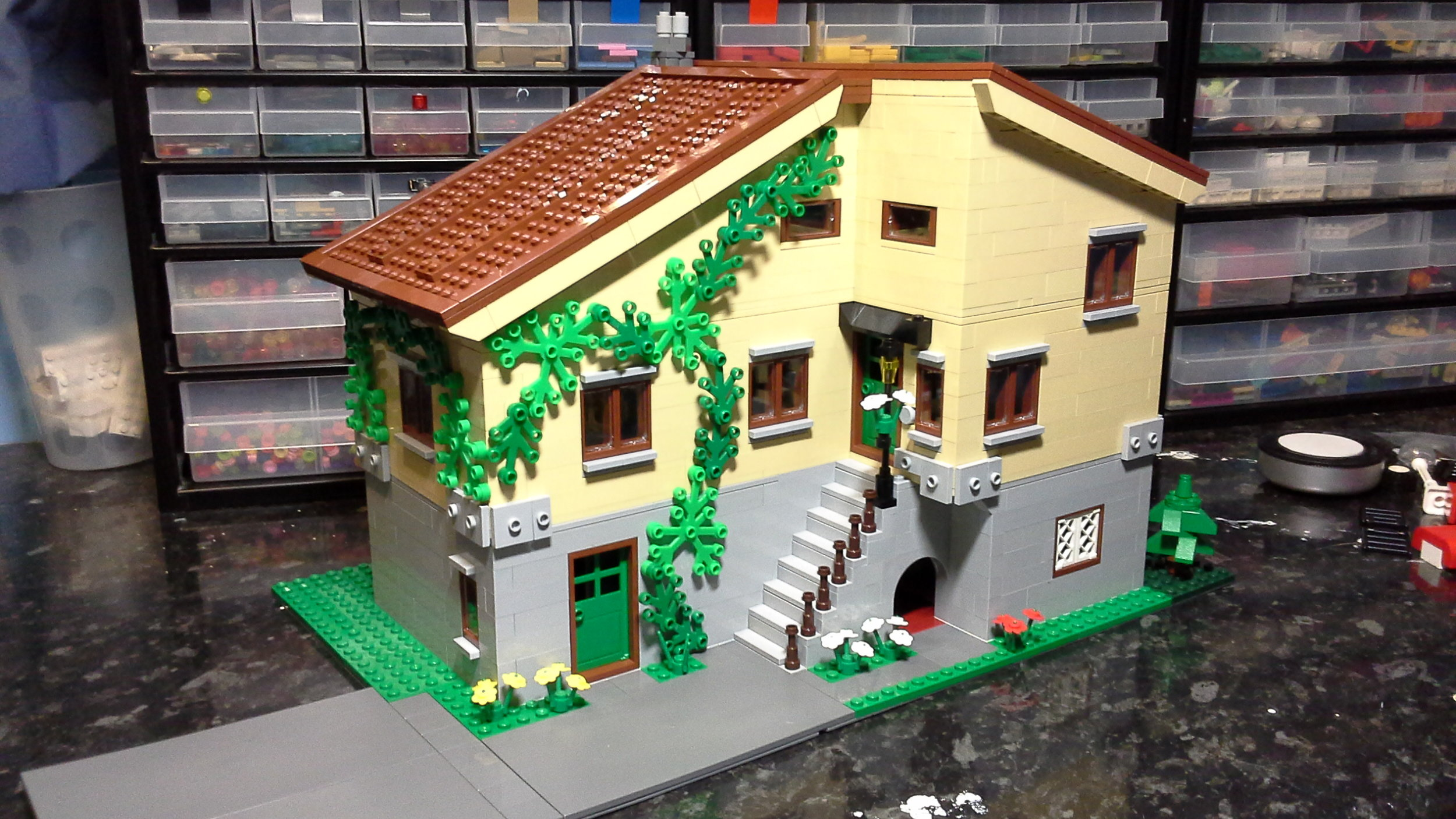 Could you replace the bricks in this house?