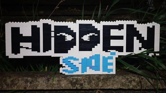 Brick built #hiddenside logo . . #lego #legomoc #legomodel #afol #logo #brick #spooky