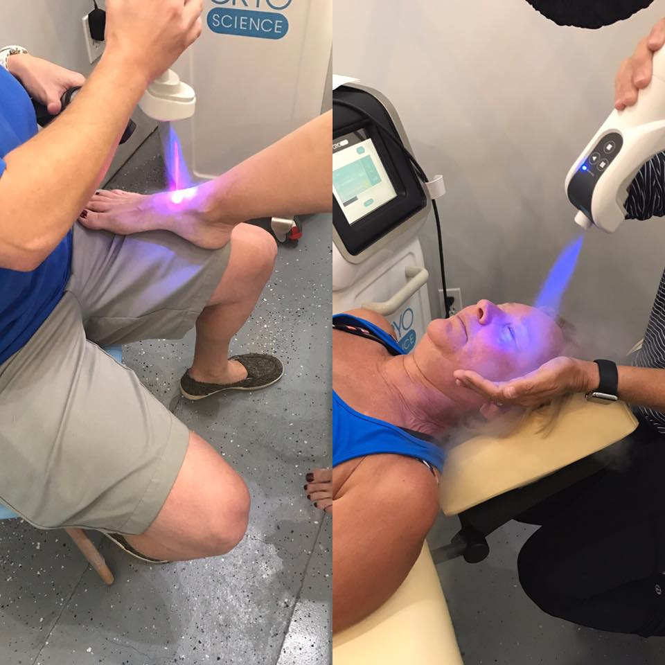 Localized Cryotherapy can treat specific pain points or can provide an incredibly relaxing, wrinkle-releasing facial.