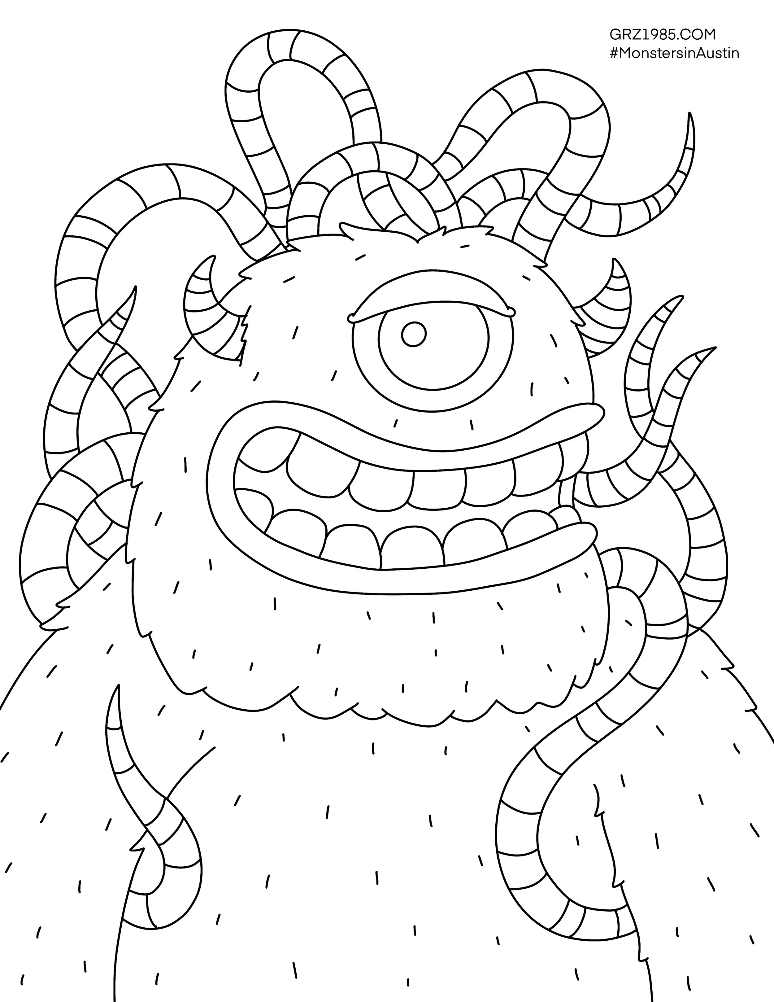 This is a picture of Monster Coloring Pages Printable with regard to space jam