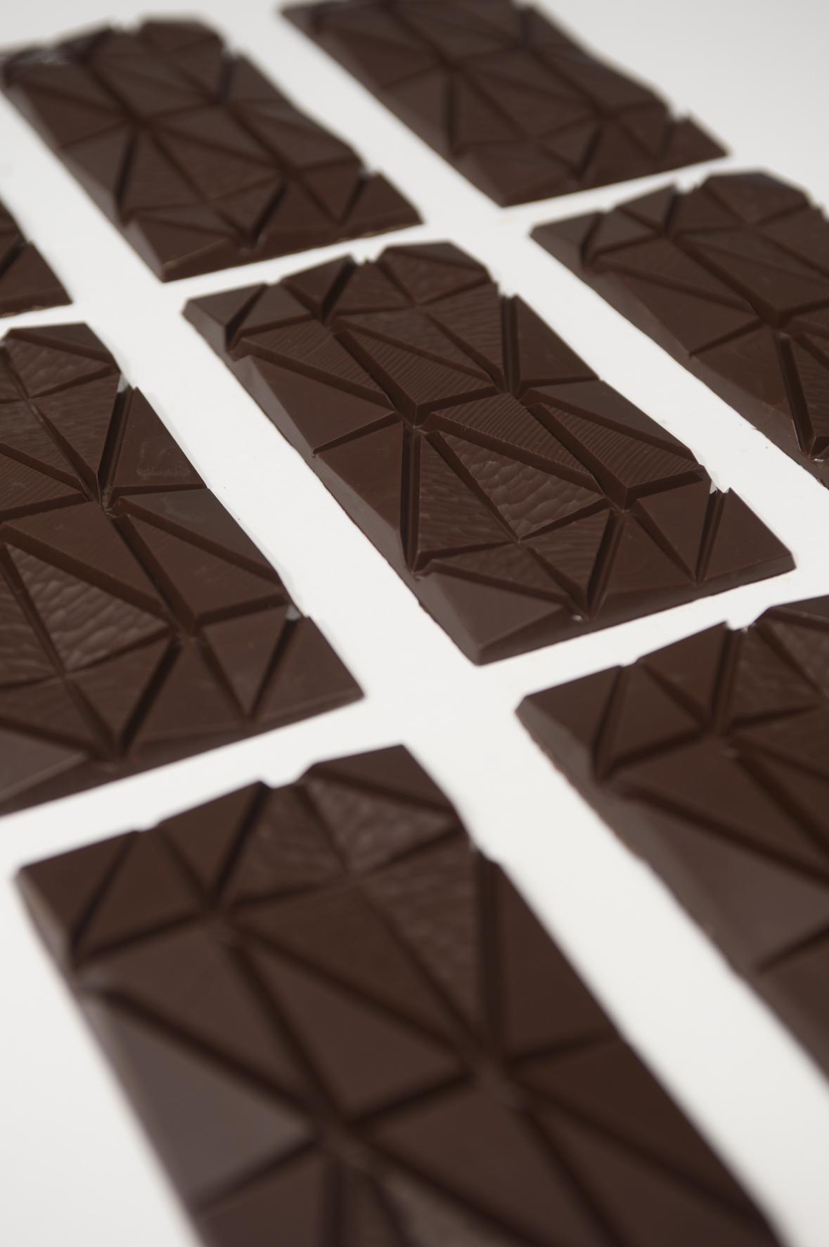 Garçoa bean to bar chocolate production - Garçoa bars ready for wrapping.jpg