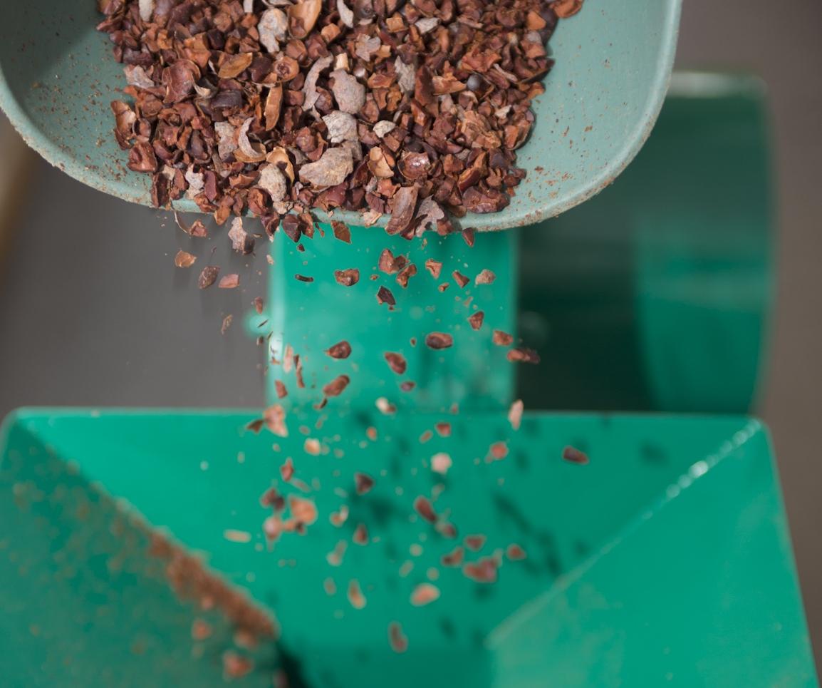 Garçoa bean to bar chocolate production - Winowing the cocoa.jpg