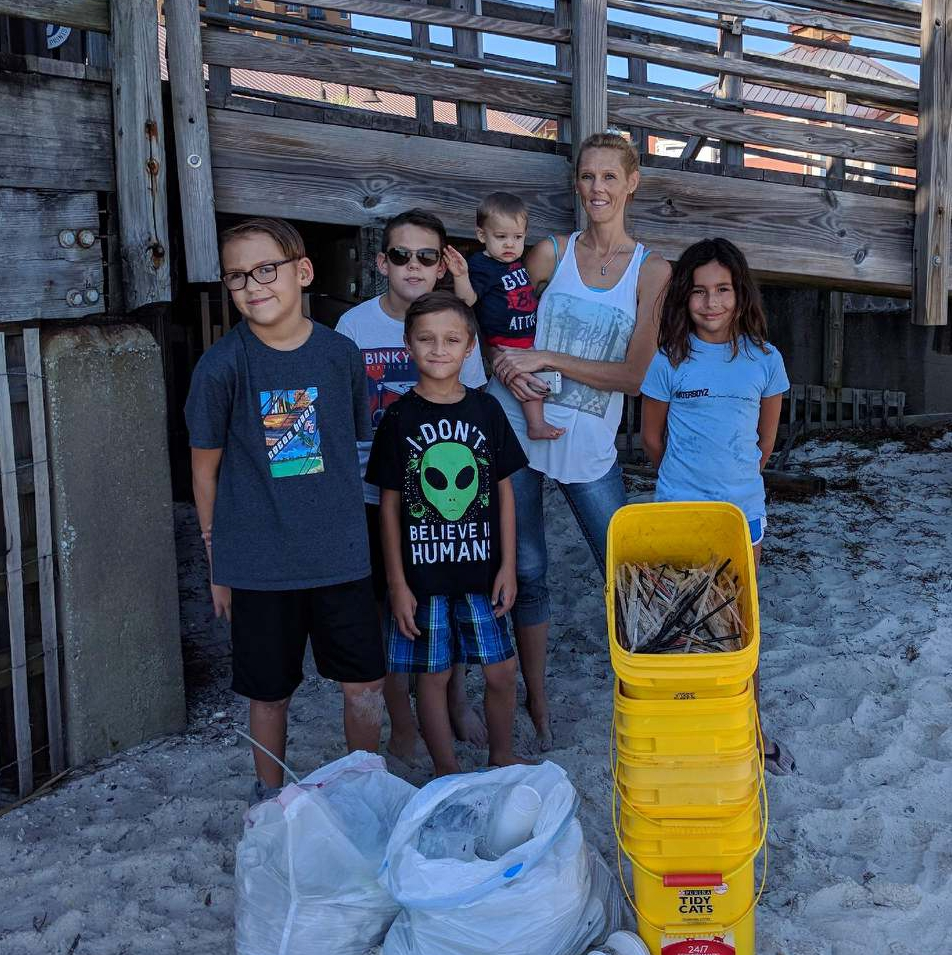 - Kids from Holley Navarre Middle school picked up 530 straws and other trash for a total of 14 lbs.