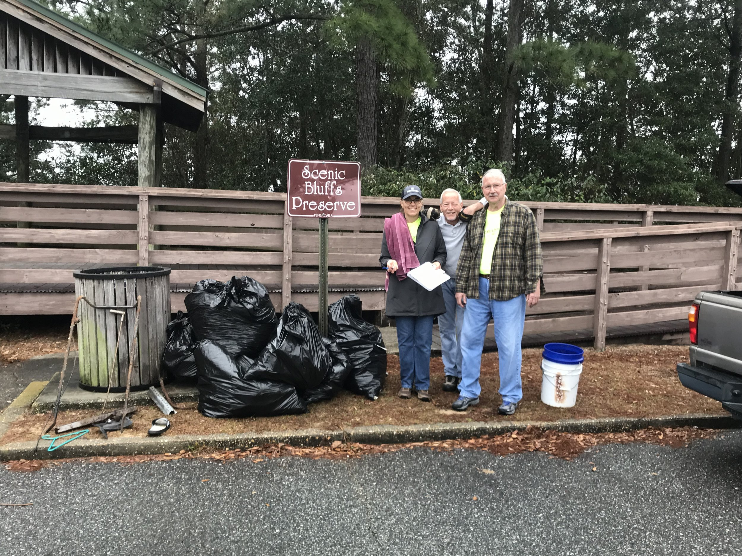 - 28 volunteers showed up to collect 191 lbs of trash - especially glass beer bottles