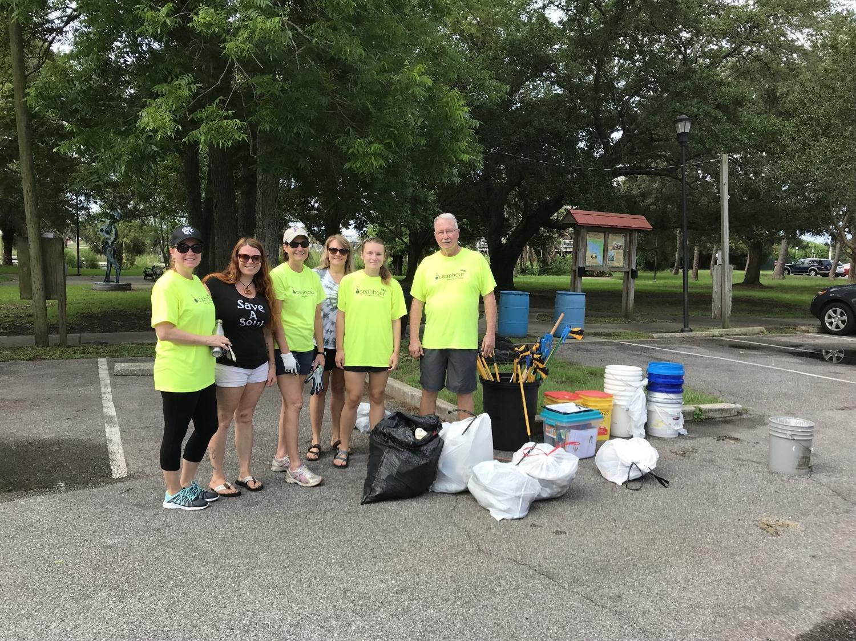 - Including Bartram Park, 46 volunteers picked up 271 lbs of debris