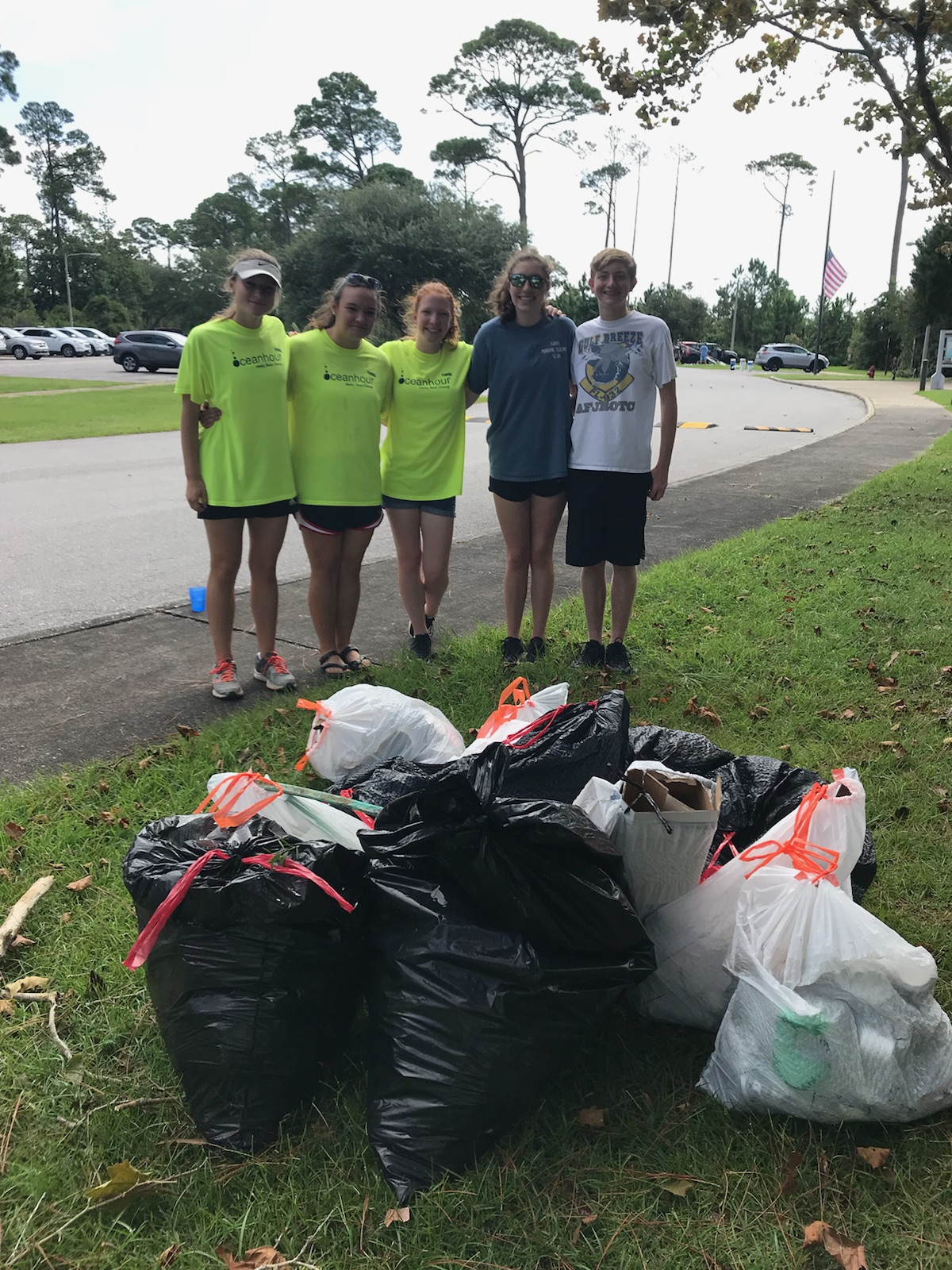 - Between Nat'l Seashore - NLO and the south end of Bob Sikes Bridge 31 volunteers picked up 297 lbs of trash. A lot of styrofoam pieces
