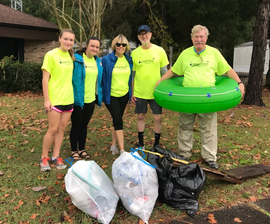 - Ten intrepid volunteers picked up 50 lbs of trash in 2 x 13  and 1 x 33 USG trash bags at Naval Live Oaks. Web master was still in bed
