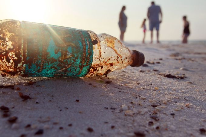 "- for the wrong reason in ""Plastic trash in the Ocean"" . PB is image 9 of 14 with this caption ""A plastic bottle is seen coated in oil on Pensacola Beach as oil makes its way on shore from the Deepwater Horizon oil spill in the Gulf of Mexico on June 6, 2010 in Pensacola, Fla"" To see the other images"