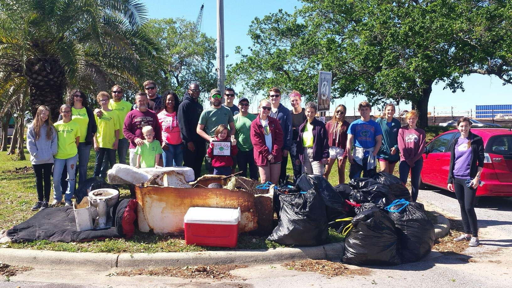 - 47 volunteers to pick up 615 lbs of trash at Wayside and Bartram Parks