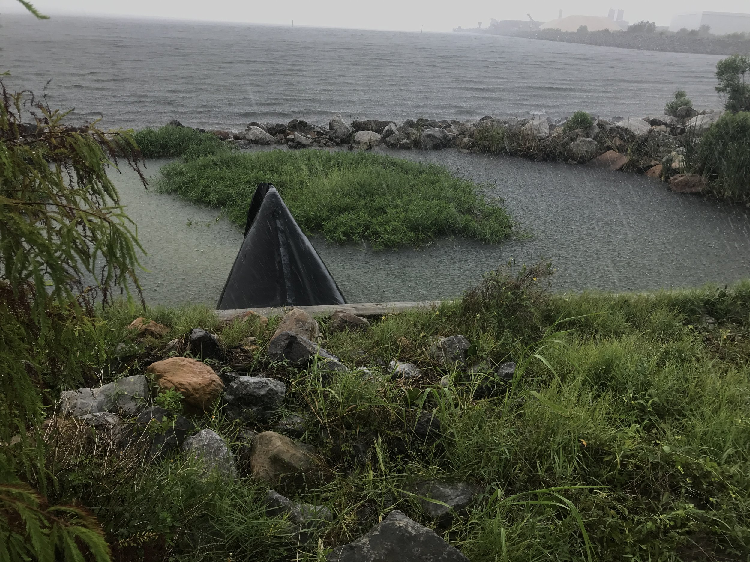 - Heavy rain drops halfway thru the cleanup at a stormwater outfall near Bartram Park.45 volunteers did tuff it out to pick up 330 lbs of trash at Pensacola Visitor Centre and Bartram Park. Thanks for the effort