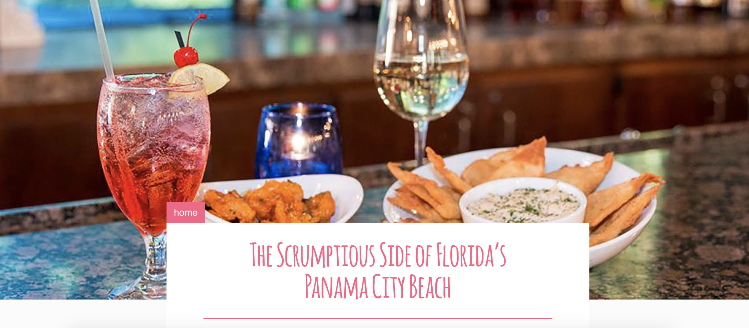The Scrumptious Side of Florida's Panama City Beach  [Southern Living]    In Panama City Beach, Florida, every loving glance between you and your partner on a romantic date night ought to be punctuated with sip of wine or a bite of freshly caught seafood or succulent meat. Revel in evocative and dreamy dishes with carefully cultivated flavors fresh from the Gulf. Ask for a table with a view and the night ahead is yours. [ READ MORE ]