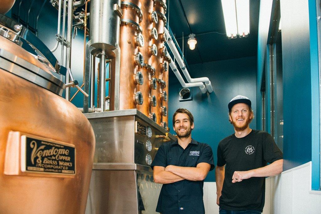 Mythology Distillery founder Scott Yeates and distiller Scott Coburn