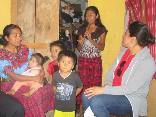"""Olga travels miles in order to sell traditional """"huipil"""" blouses to support her family."""