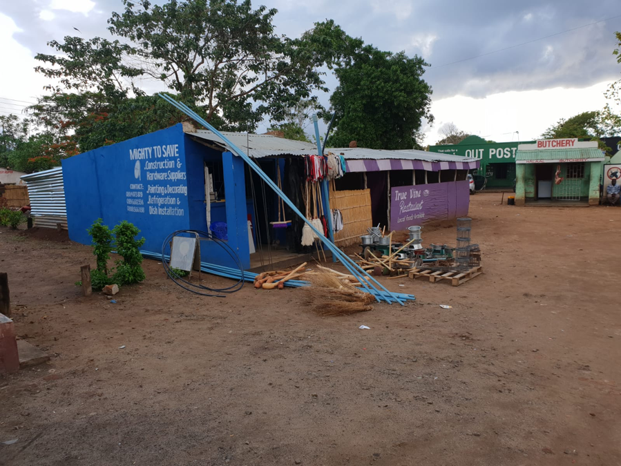 Small shopping center in Malawi, Africa