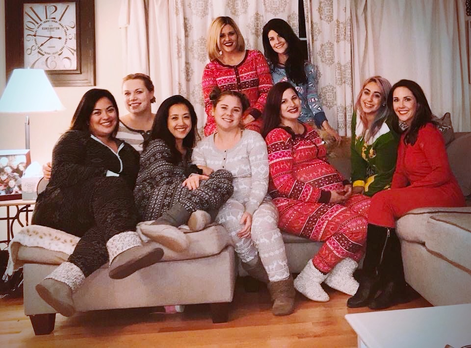 These are my Biffles - Yes we are wearing XMAS jammies! LADY BOSSES UNITE!!