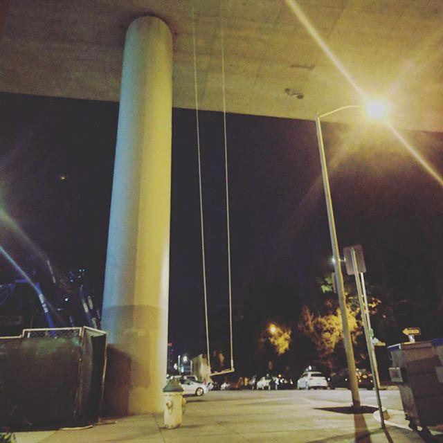 🙄 #swingbombsf . . . . . . #sf #sanfrancisco #swing #streetart #nightswing
