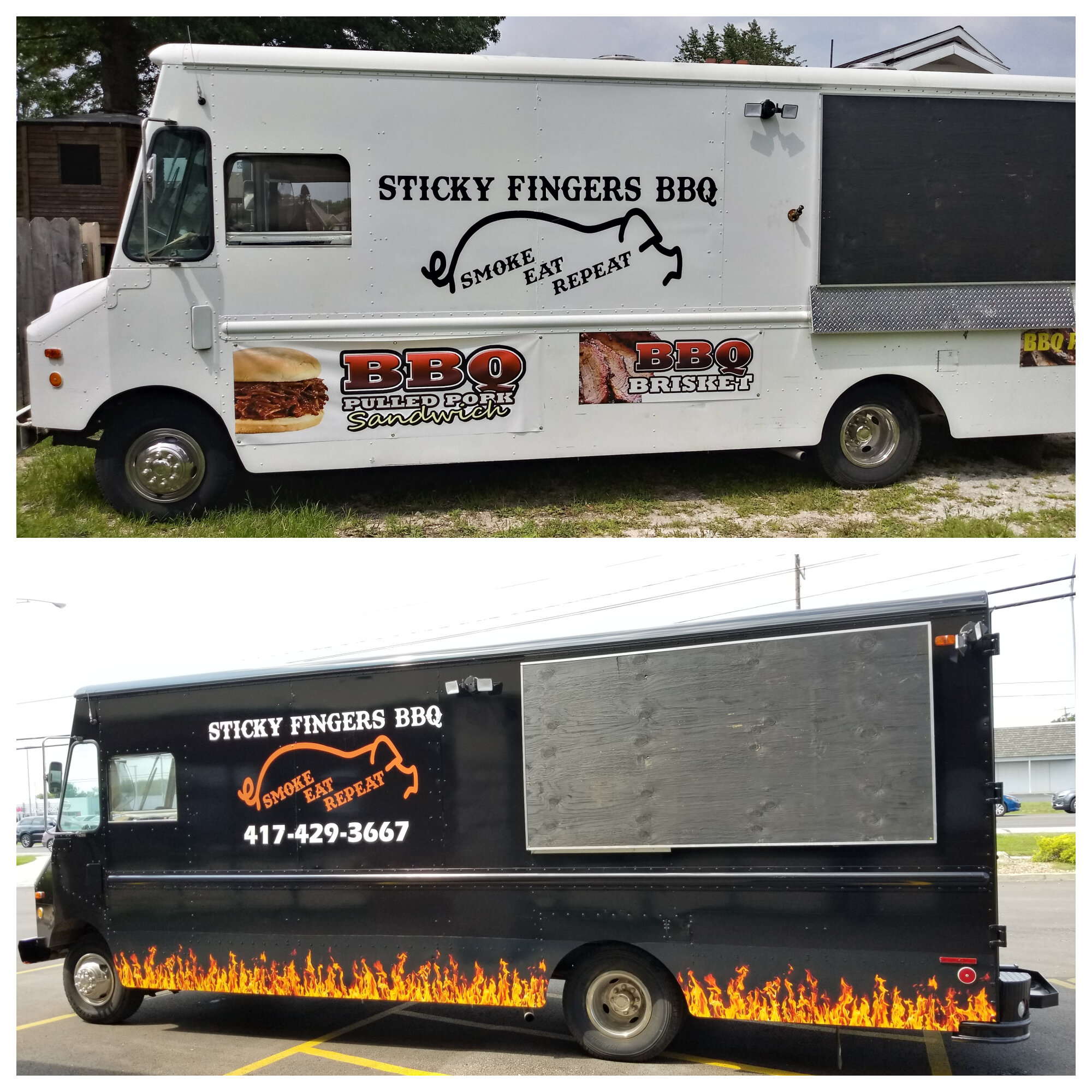 Sticky Fingers BBQ - Food Truck Redesign
