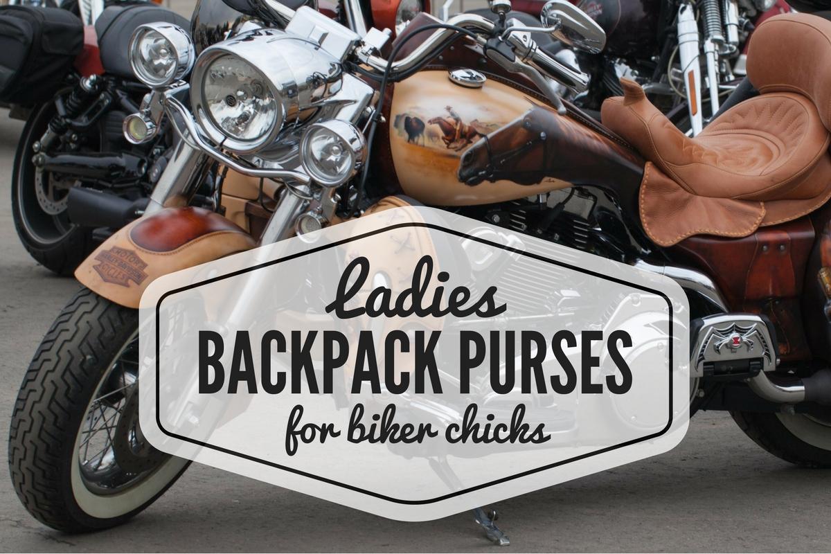 Ladies Backpack Purses for Cool Biker Chicks
