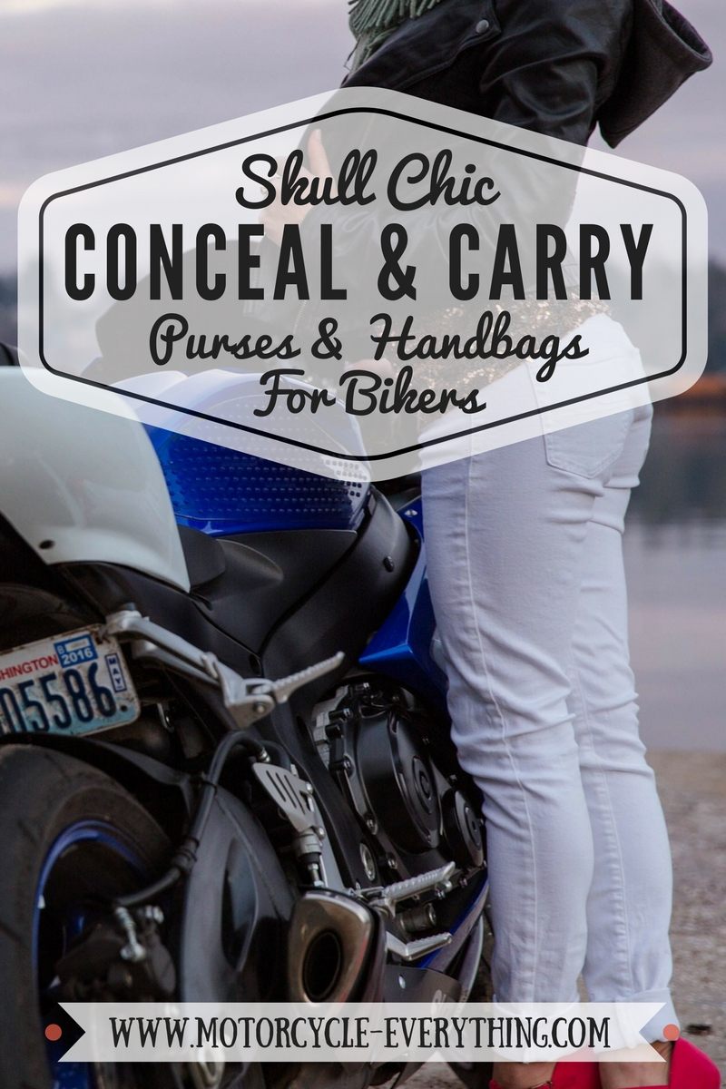 Ladies Conceal and carry Skull Purses and Handbags for Bikers