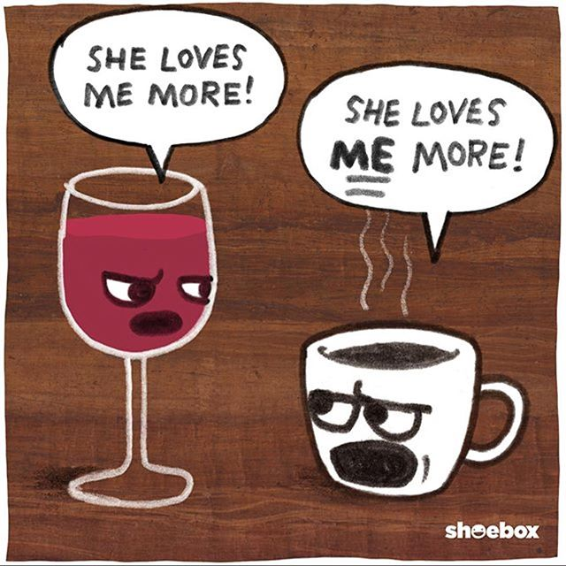 Which do you love more? Wine or coffee?? . .#nobutreally #coffee #wine #femalepreneur #daringlygreat #entrepreneur #smallbusiness #humor