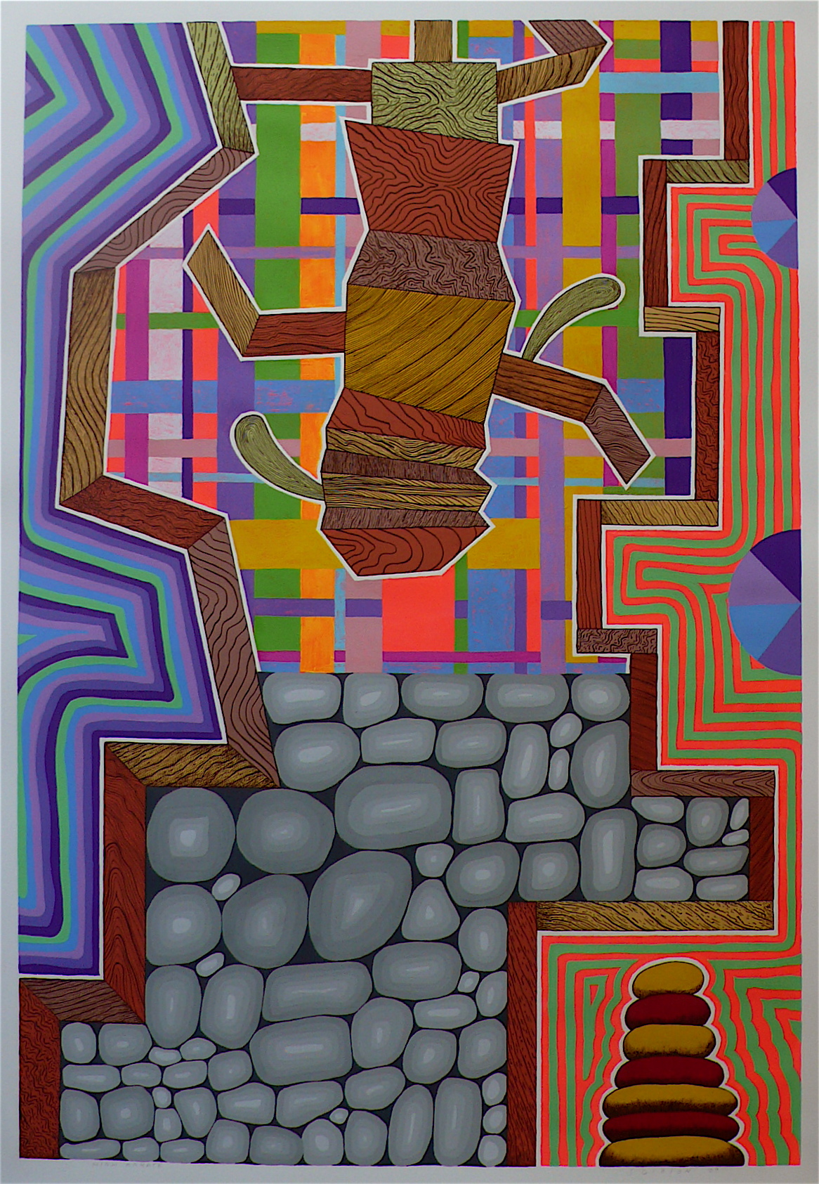 """High Karate 2009 gouache and flashe on paper 41"""" x 30"""""""