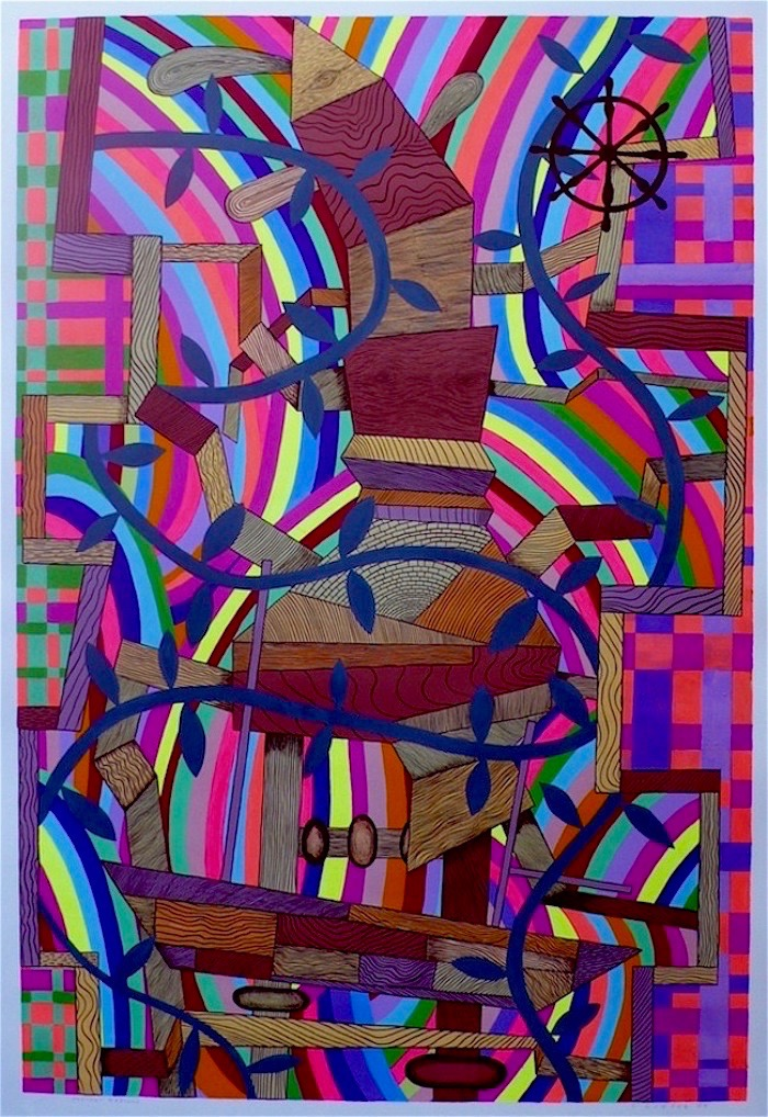 """Ancient Mariner 2009 gouache and flashe on paper 41"""" x 30"""""""