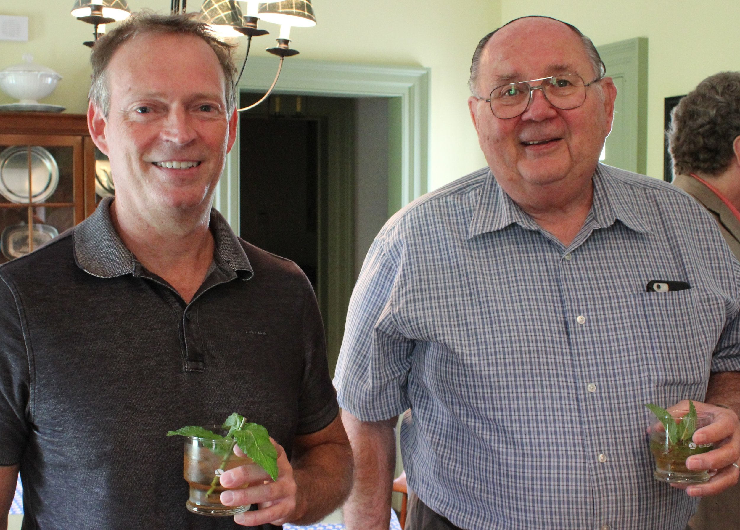 Mint Julep host Todd Saner and Former PCLC Board Member Russ Hoover.