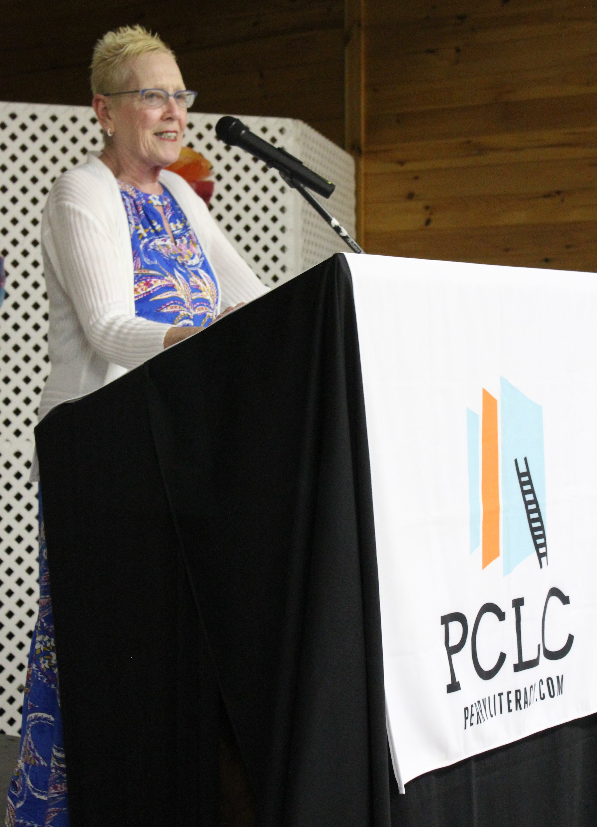 PCLC Executive Director Kathleen Bentley introduced PCLC Students of the Year.