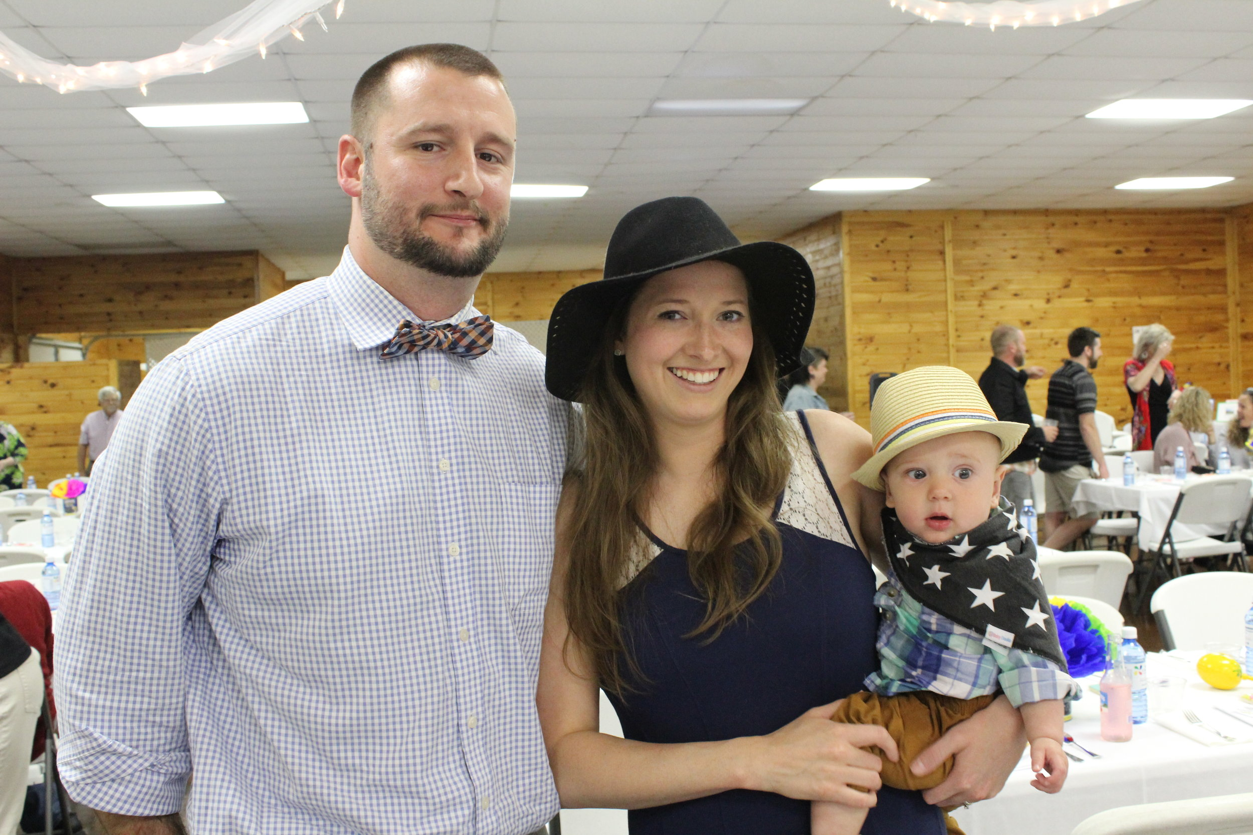 PCLC Board Member Clay Merris, his wife Miranda Kellenberger and their sweet baby.