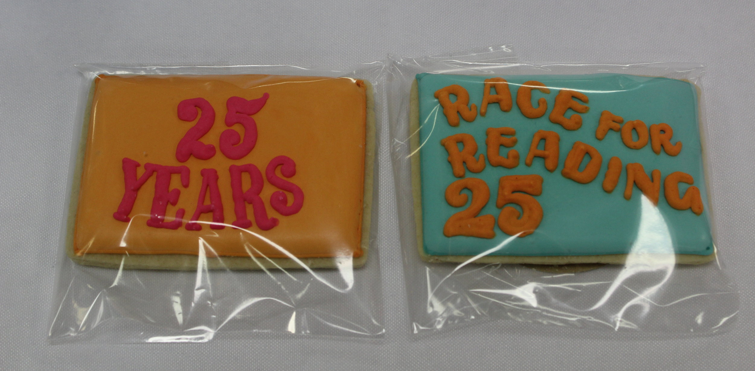 PCLC Board Members provided special cookies to mark the 25th Annual Race for Reading.