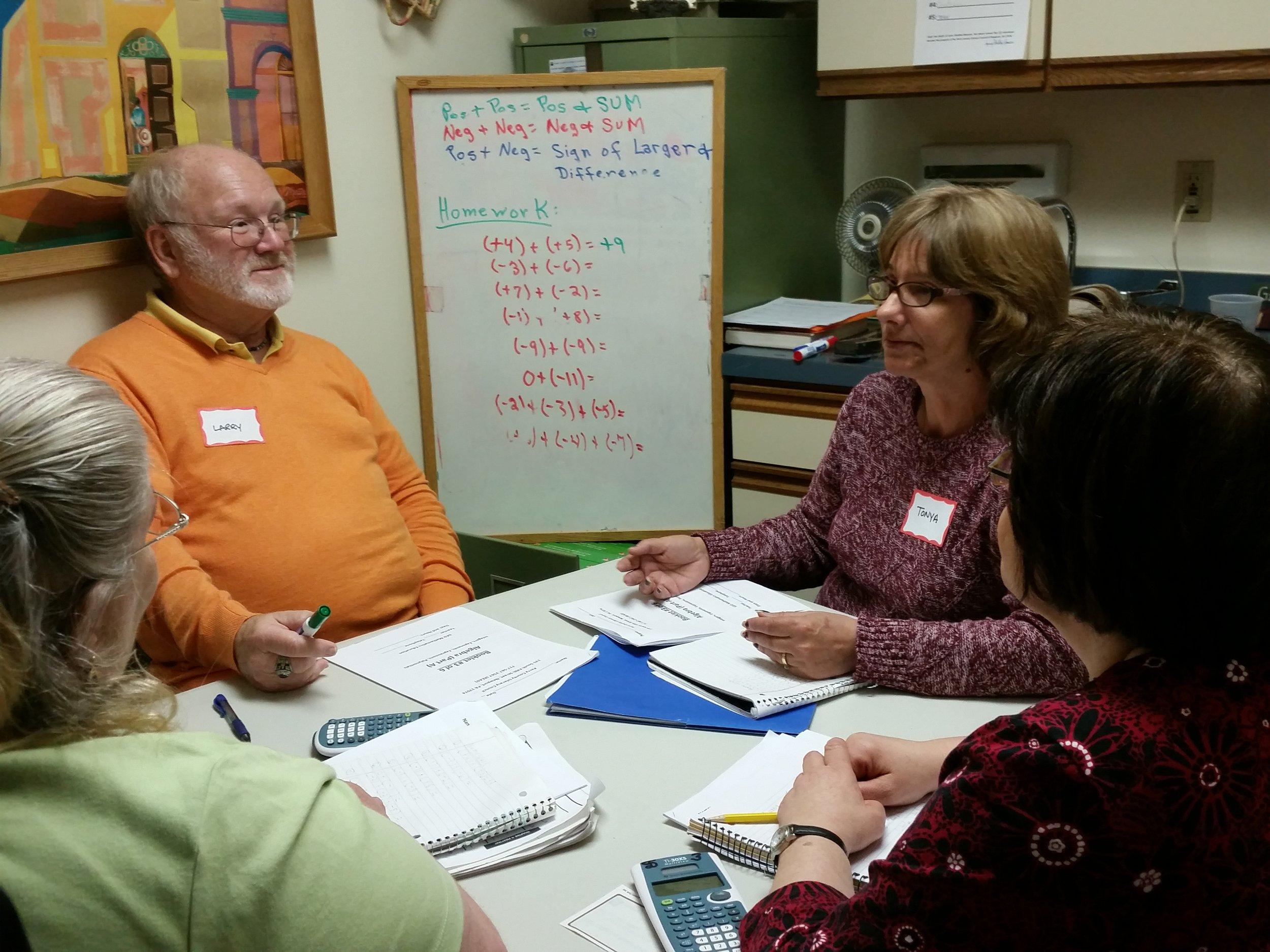 Beloved tutor Larry Sheibley-Beasom made math class less intimidating for many years.