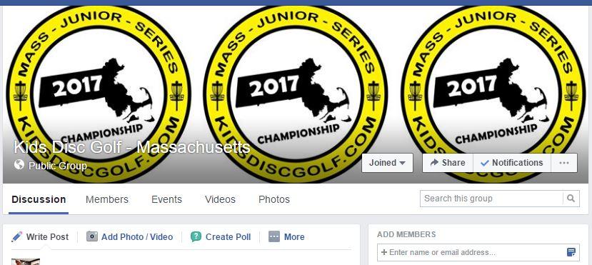 Kids Disc Golf - Massachusetts Facebook Group