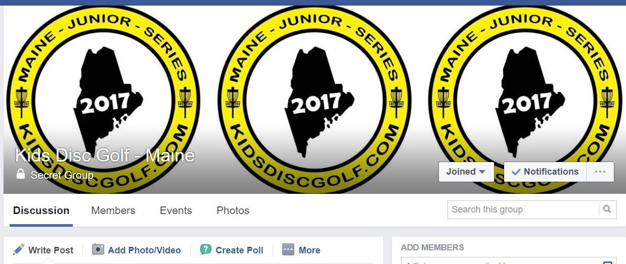 Kids Disc Golf - Maine Facebook Group