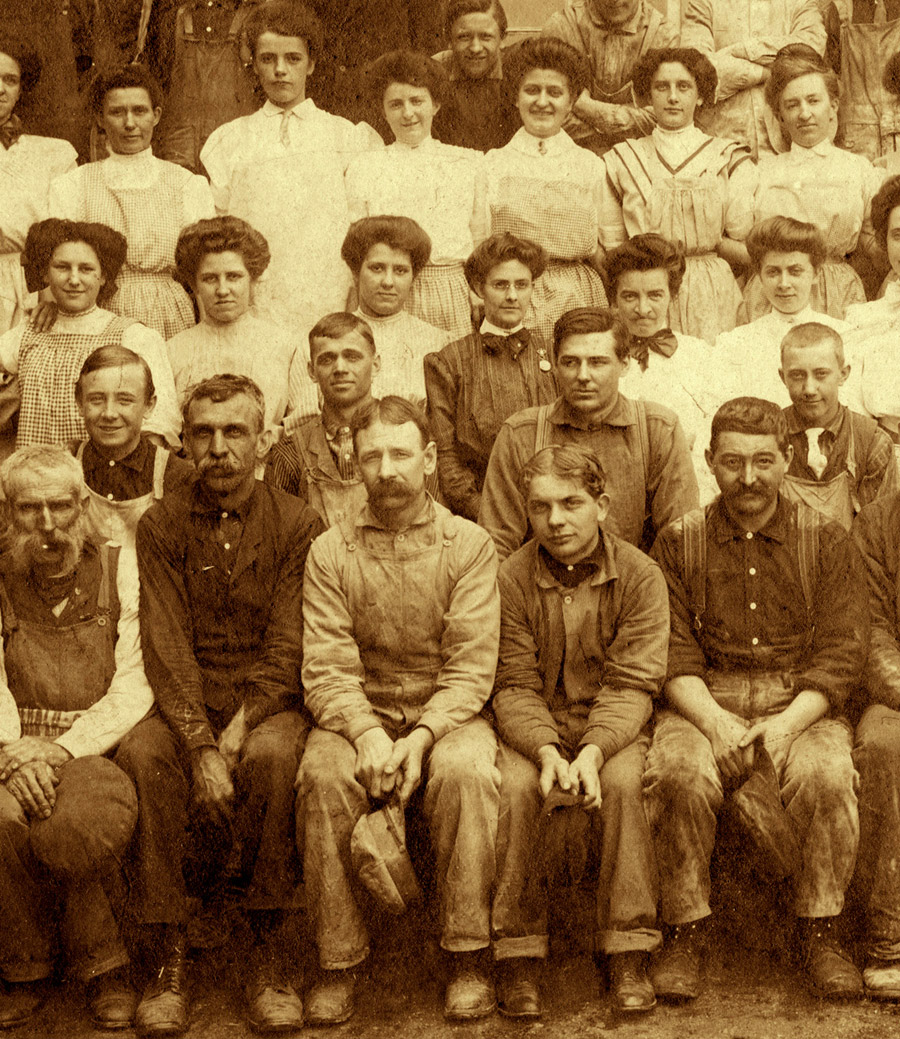 above  is one of the  reference photos  of the actual workers who were  employed by Edwin Binney at his chemical factory in 1906…  the real people who helped Edwin experiment and create the first recipes for making the color crayons which became known as  Crayola Crayons
