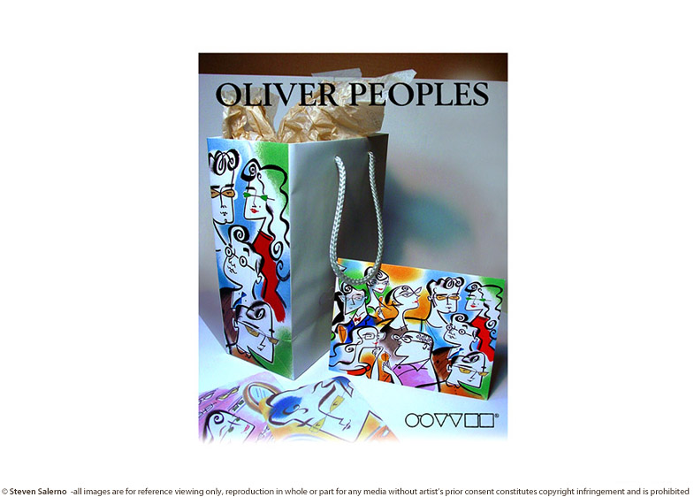^  packaging/printed matter/lens cleaner illustrations created for   OLIVER PEOPLES   eyewear company