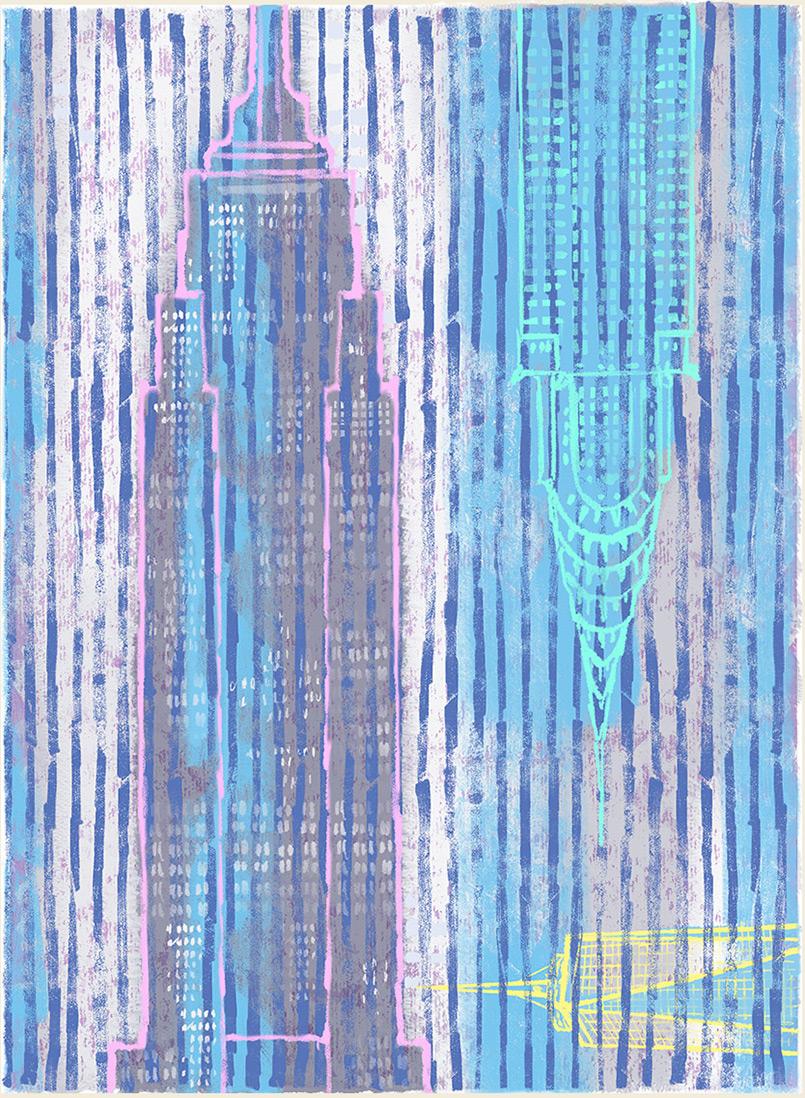 Empire Dawn  -rug design/preliminary drawing  Steven Salerno  © 2019