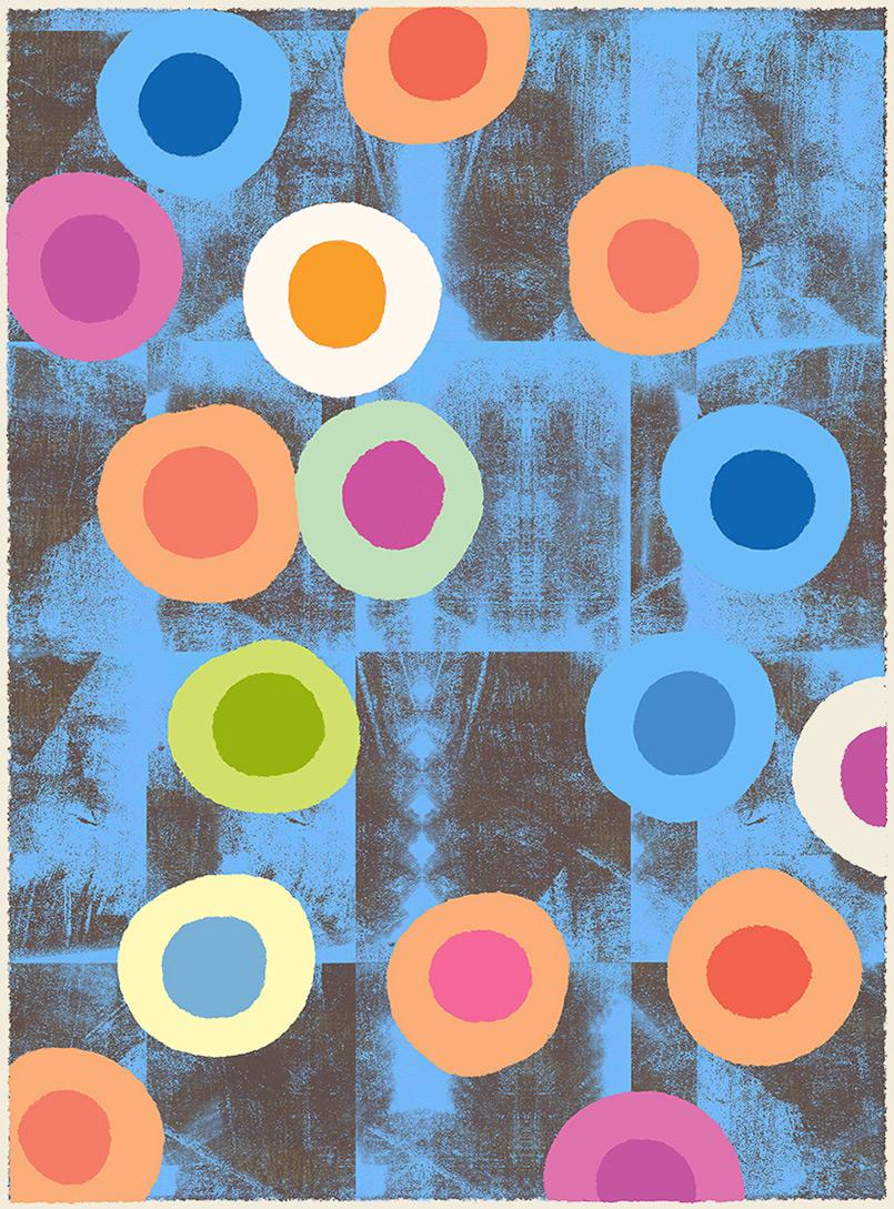 More Eggs  -rug design/preliminary drawing  Steven Salerno  © 2019
