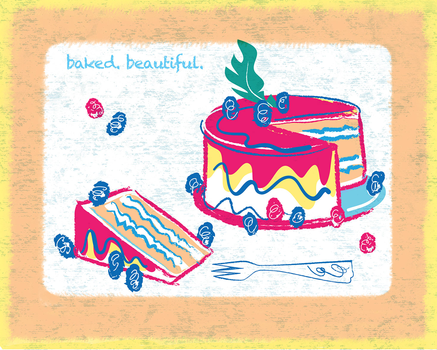 ^  an advertising illustration by  Steven Salerno  created for   FrOSTER cupcakes & cakes   web campaign