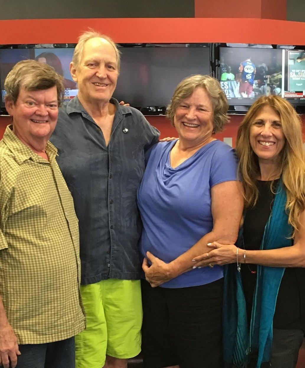 From Left to Right: Thom Clarke, Michael James, Katy Hogan, Lynn Orman Weiss