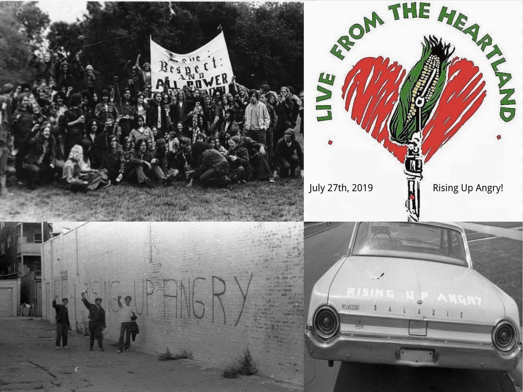 JuLY 27th, 2019 - Co-Hosts: Michael James, Katy Hogan, & Thom ClarkThis episode is in celebration of 50 years since the founding of Chicago based activist organization Rising Up Angry.Engineer: Jake Levy