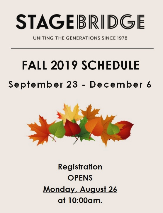 Click on the program above to check out the Fall 2019 Schedule!