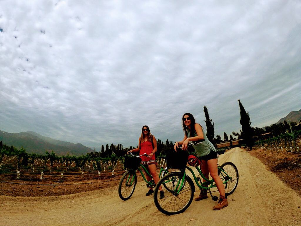 Biking my way around Maipo Valley with the sis - standard Monday in Chile!