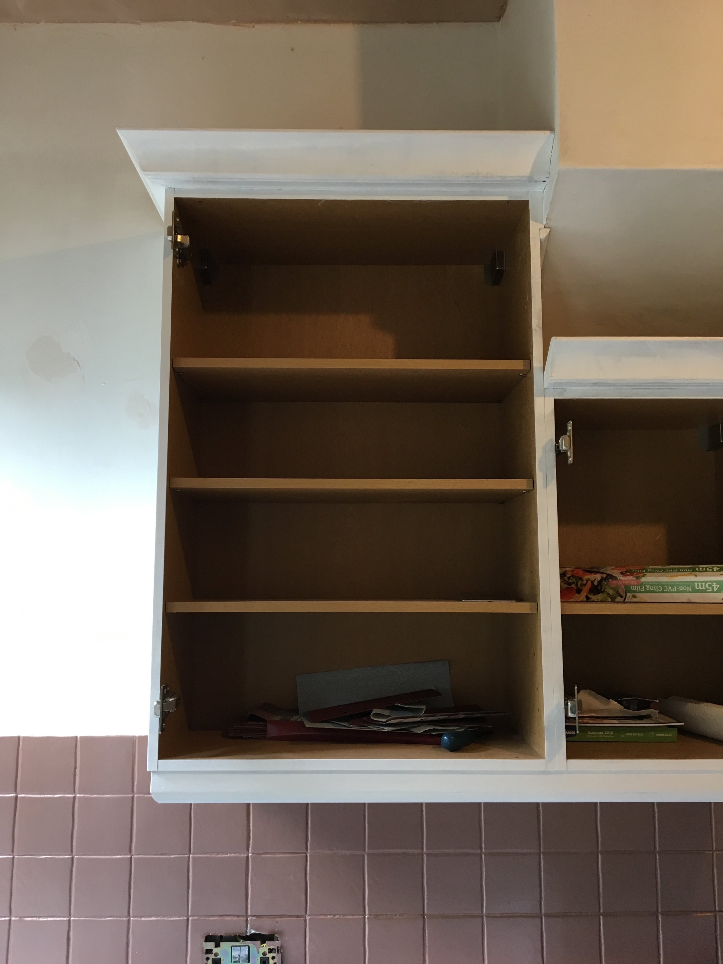 Kitchen Renovation Cupboard Upcycle
