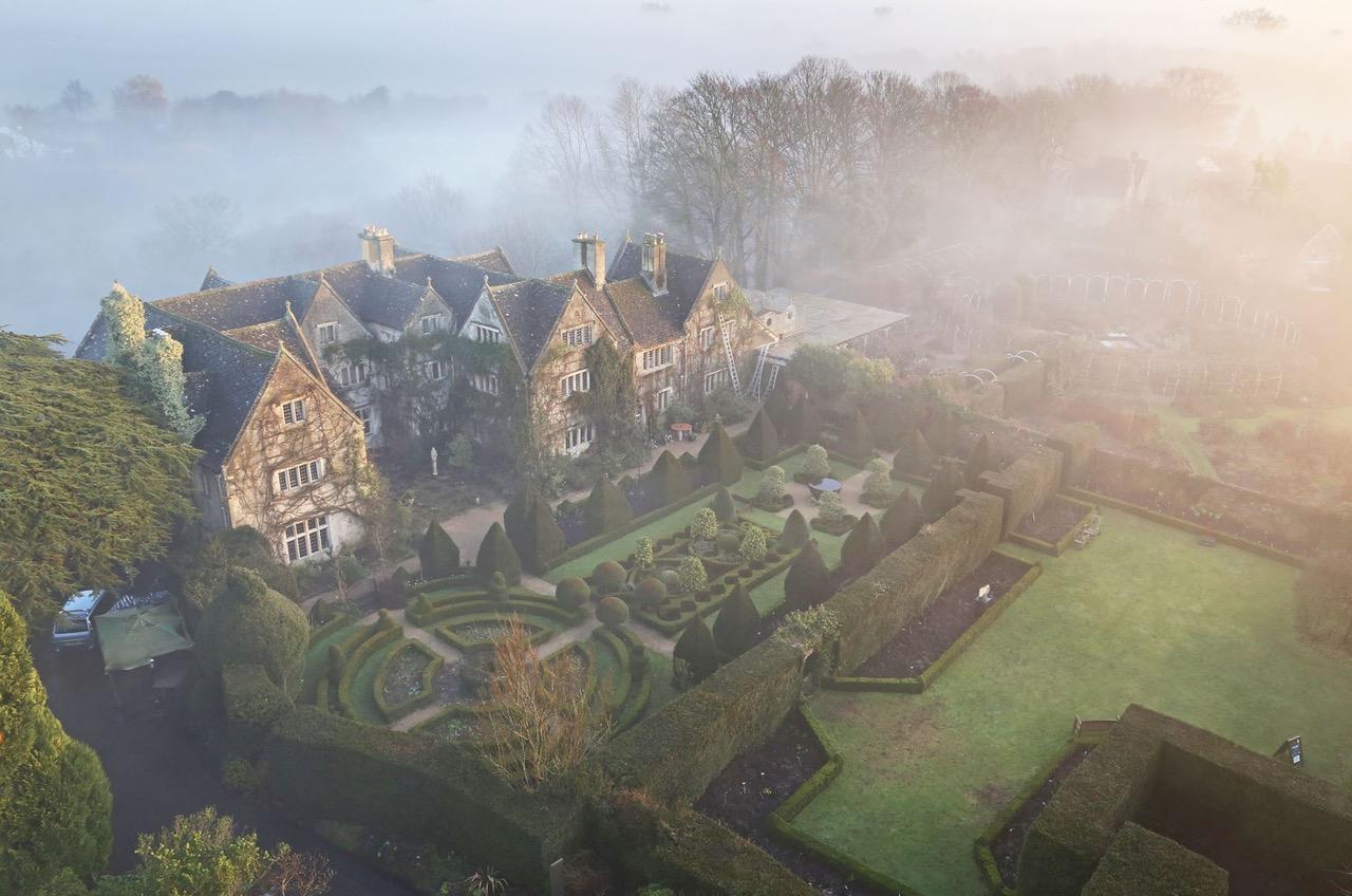 Ariel View:Abbey House Gardens
