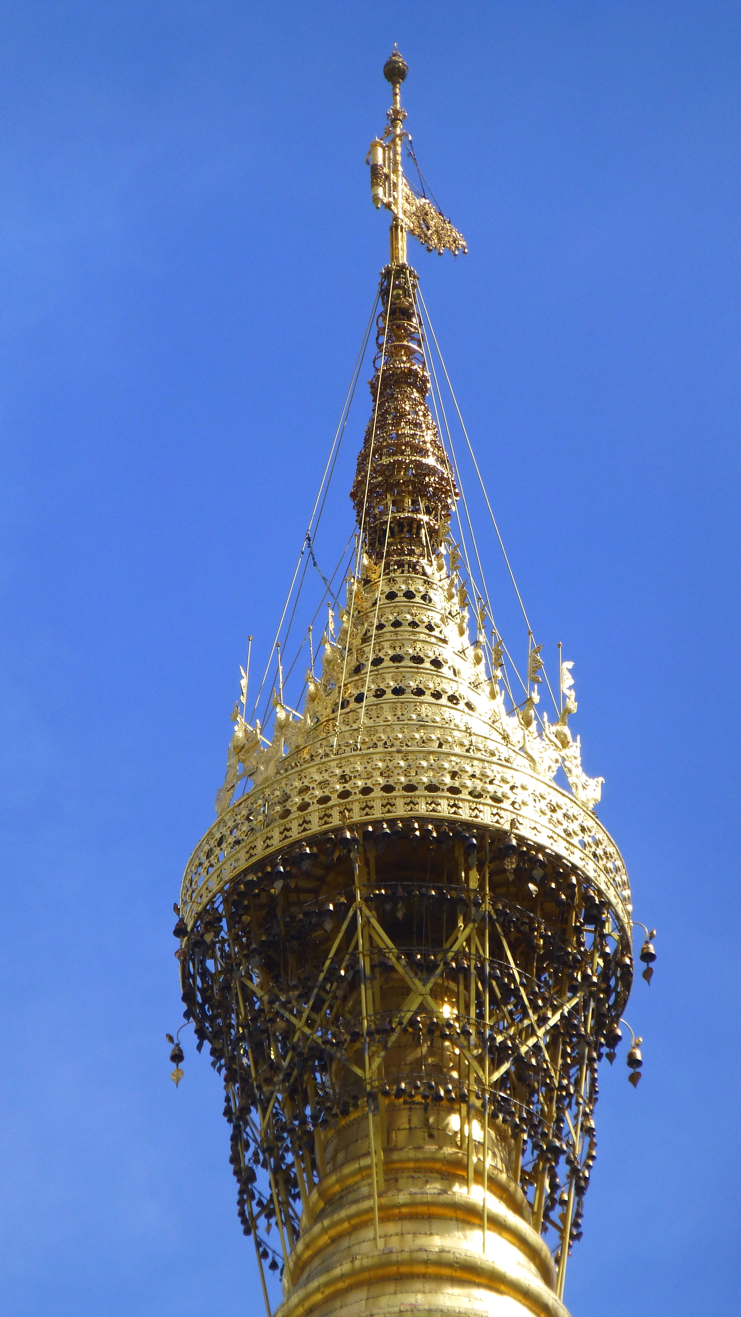 The Shwedagon umbrella (image nicked from the interwebs, as it's too high up to protograph)