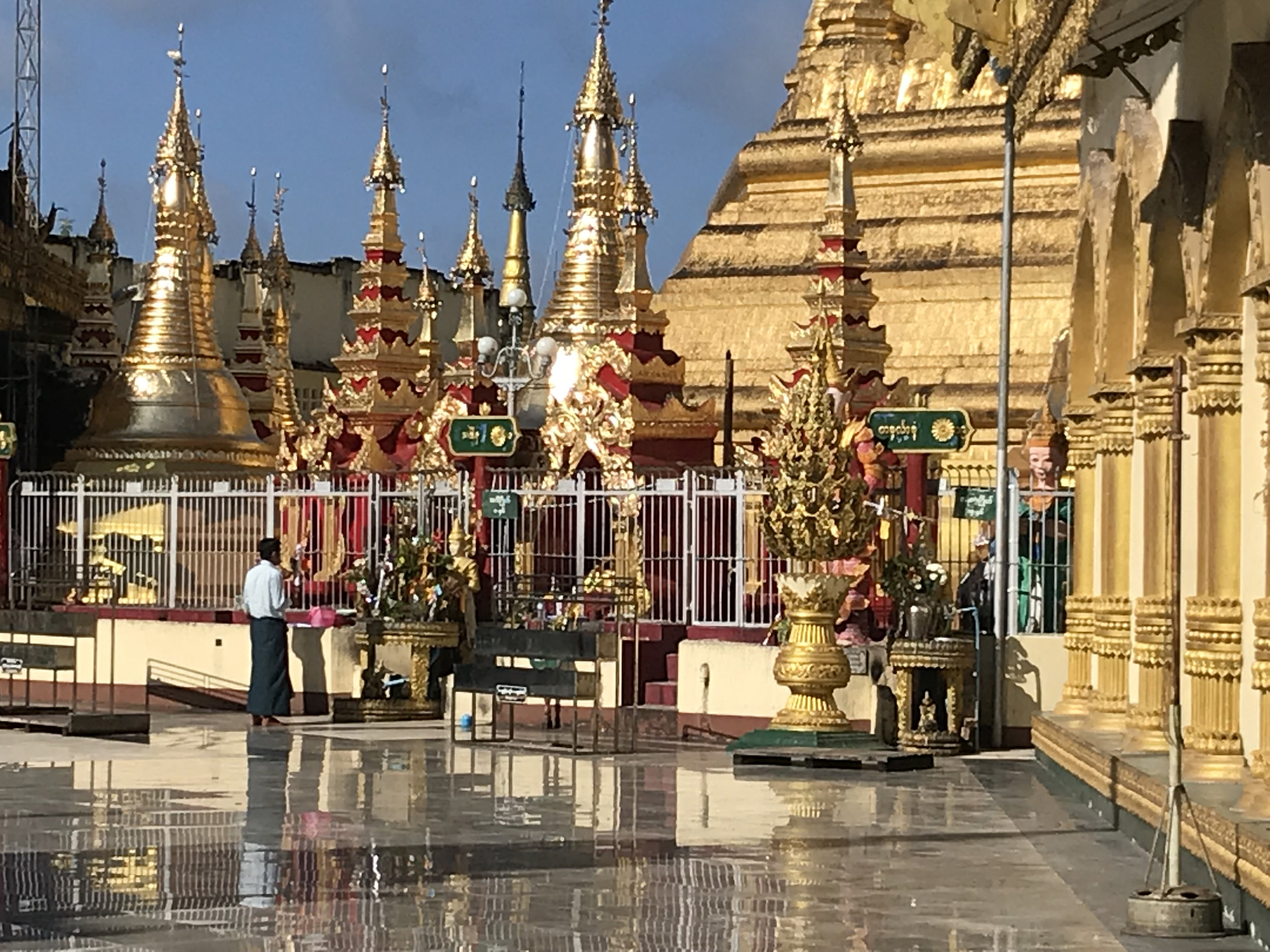 Just another beautiful pagoda - this one in Pathein